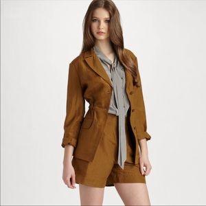 Marc Jacobs Carli Silk Linen Drawstring Blazer XS